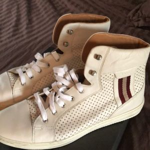 Bally leather men's high top sneakers